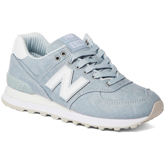 best website 18501 ba4dc New Balance Women's 574 Beach Chambray Sneakers